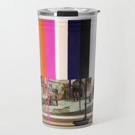 Garage Sale Painting of Peasants with Color Bars Travel Mug