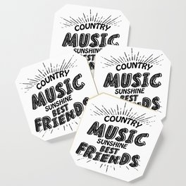Country Music Sunshine And Best Friends Gift Coaster