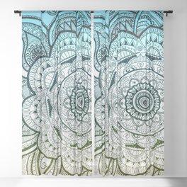 Mandala Blue Yellow Sheer Curtain
