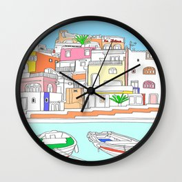 Italy Seaside Town And Beach - Ischia Island Wall Clock