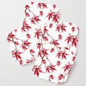 Watercolor Botanical Red Japanese Maple Leaves on Solid White Background by pipafineart