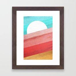 Warm Waves Framed Art Print