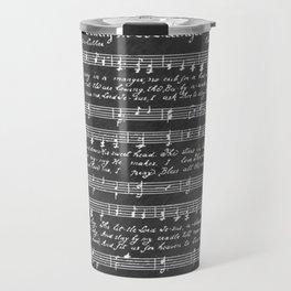 Away in a Manger Christmas Music Chalkboard Travel Mug