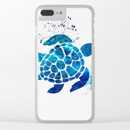 Sea Turtle 015 Clear iPhone Case