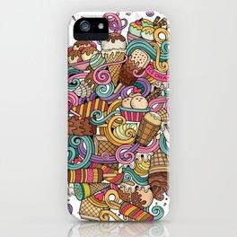 ice cream cartoon iPhone Case