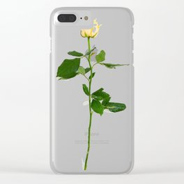 Yellow Rose (Color) Clear iPhone Case