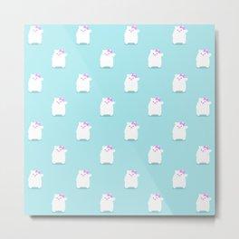 Hello Cub pattern Metal Print
