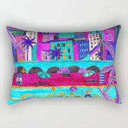 Evening beach Rectangular Pillow