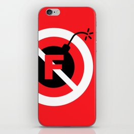 F-Bombs Prohibited, No F-bombs by Dennis Weber of ShreddyStudio iPhone Skin