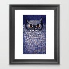 La Sagesse du Hibou (The Blue Owl) Framed Art Print