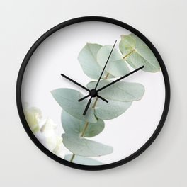 Gentle Soft Green Leaves #1 #decor #art #society6 Wall Clock