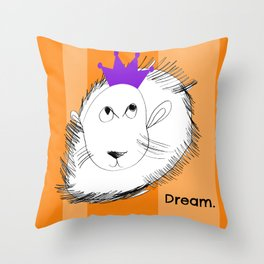 The Lion Dreams Big - Art by a Child Throw Pillow
