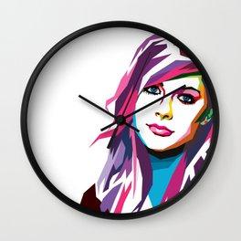 Avril Lavigne - WPAP art Wall Clock