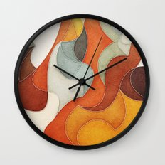 The Flow of Things Wall Clock