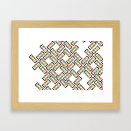 Let go or Let's go (pattern) Framed Art Print
