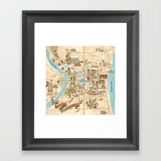 The City of Philadelphia Framed Art Print