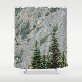 Stone Face Shower Curtain