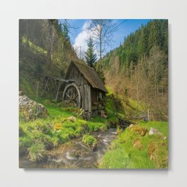 Watermill Life in the Country Metal Print