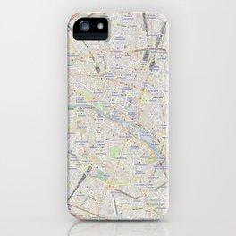 map of Paris – France, French,city of light,seine, parisien, parisian. iPhone Case