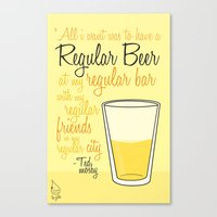 how i met your mother Canvas Prints featuring Tv drink quotes [how i met your mother] by Fabio Castro