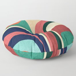 Impossible contour map Floor Pillow
