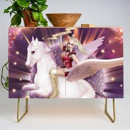 Andora: Drag Queen Riding a Unicorn Credenza
