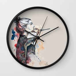 seehorse by carographic Wall Clock