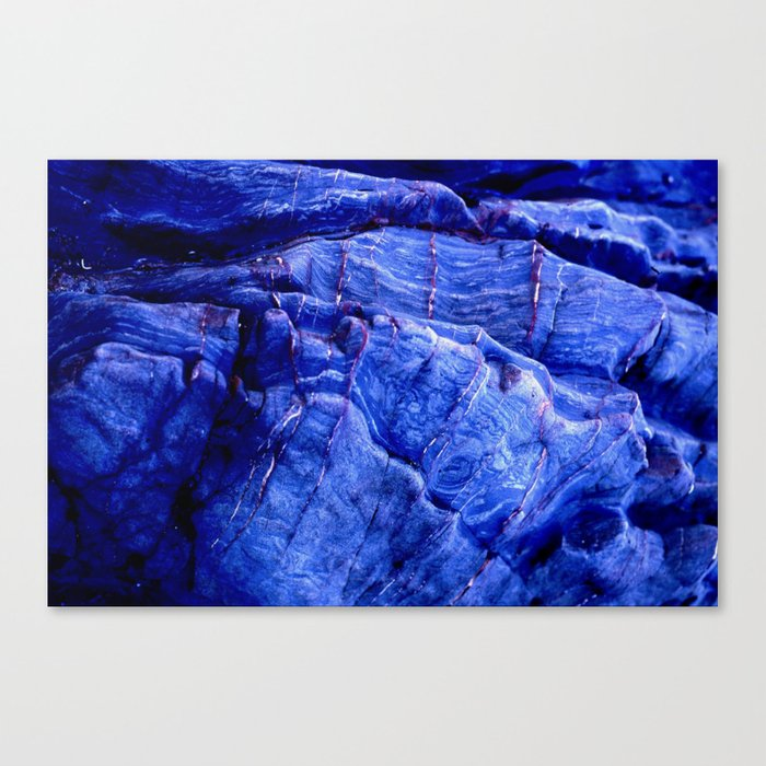 BLUE STONE TEXTURES Canvas Print