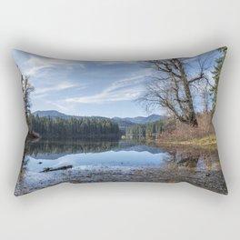 Leaves Fallen on Fish Lake Rectangular Pillow