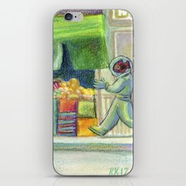 The Fishstronaut Goes to Market iPhone Skin
