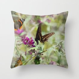 Butterfly Echoes Throw Pillow
