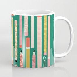 Cute Art Supplies Layout  Coffee Mug