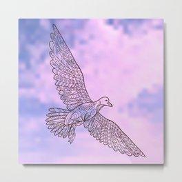 seagull in the sky Metal Print