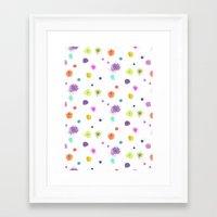 nori Framed Art Prints featuring NORI by LAUREN WALKER