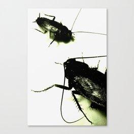 Evil Toxic Cockroaches Canvas Print