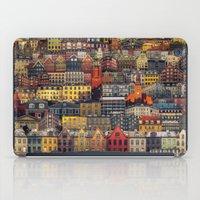 copenhagen iPad Cases featuring Copenhagen Facades by Siddharth Dasari