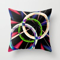 circles Throw Pillows featuring circles by haroulita