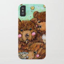 Bears with Porridge iPhone Case