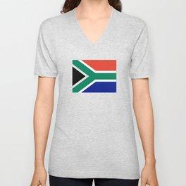 flag south africa, African,Afrikaans,Mandela,apartheid, Johannesburg,Soweto,Pretoria,Durban,Tembisa Unisex V-Neck