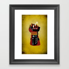 Power Glove Love: Iron Man Framed Art Print