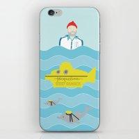 the life aquatic iPhone & iPod Skins featuring Life Aquatic by Arthurs Plaid Pants
