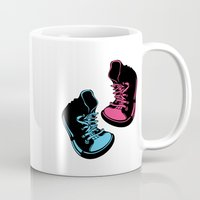 sneakers Mugs featuring Sneakers by Cindys