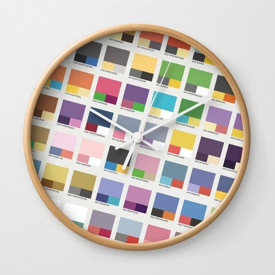Poke-Pantone 4 (Sinnoh Region) Wall Clock