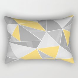 Pattern, grey - yellow Rectangular Pillow
