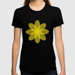 Läpikuultava kukka keltaisella pohjalla T-shirt