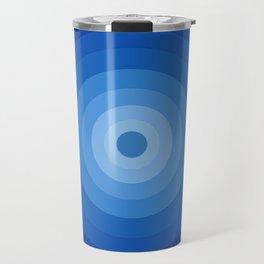 Blue Retro Bullseye Travel Mug