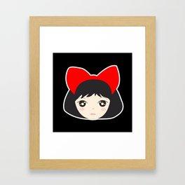 Kiki's Red Bow Framed Art Print