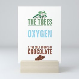 Reasons To Save The Trees Environmental Ecosystem Nature Lovers Gifts Mini Art Print