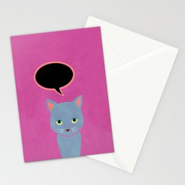 cat -Alice Stationery Cards