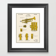 Trumpet Patent - Colour Framed Art Print